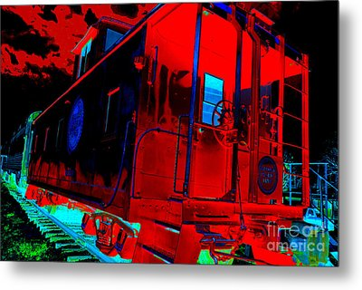 Goodnight Caboose Metal Print by Chuck Taylor