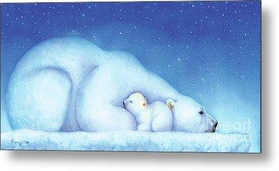 Arctic Bears, Goodnight Nanook Metal Print by Tracy Herrmann