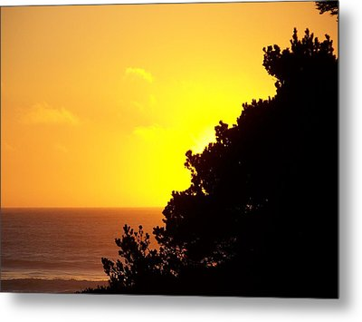 Goodnight Sun Metal Print by Angi Parks
