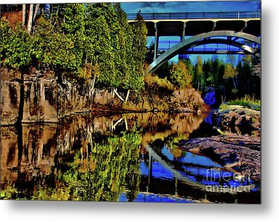 Gooseberry Bridge Metal Print by Matthew Winn