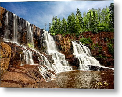 Metal Print featuring the photograph Gooseberry Falls by Rikk Flohr