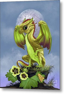 Metal Print featuring the digital art Gooseberry Dragon by Stanley Morrison
