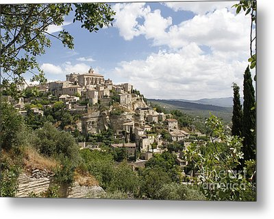 Metal Print featuring the photograph Gordes In Provence by Stan and Anne Foster