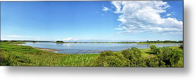 Metal Print featuring the photograph Gordons Pond Panorama - Cape Henlopen State Park - Delaware by Brendan Reals