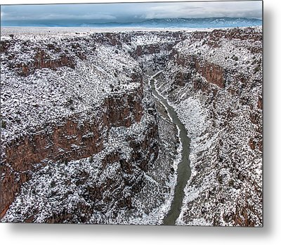 Metal Print featuring the photograph Gorge In Snow by Britt Runyon