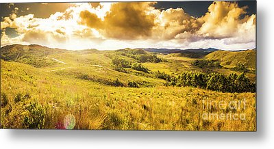 Gorgeous Golden Sunset Field  Metal Print by Jorgo Photography - Wall Art Gallery