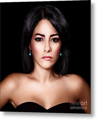 Gorgeous Woman Portrait Metal Print