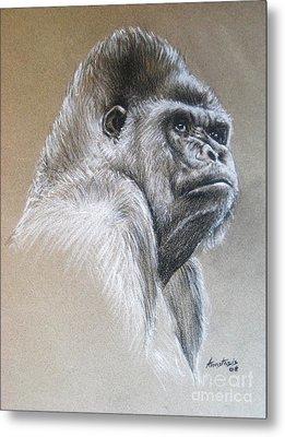 Gorilla Metal Print by Anastasis  Anastasi