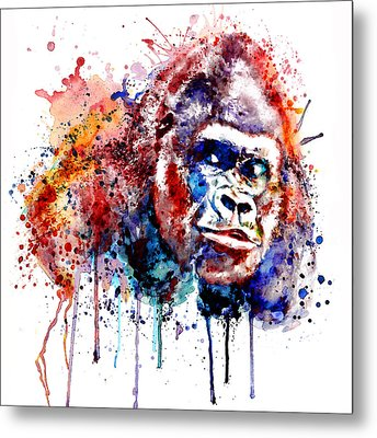 Metal Print featuring the mixed media Gorilla by Marian Voicu