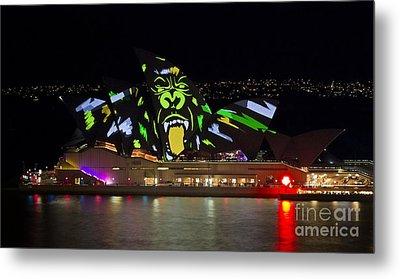 Gorilla Sails - Sydney Opera House - Vivid Festival Metal Print