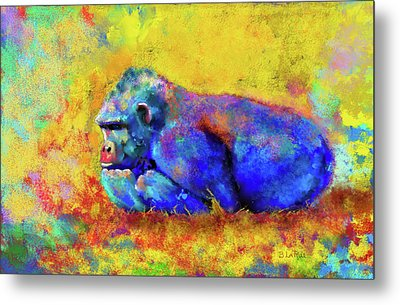 Metal Print featuring the photograph Gorilla by Test
