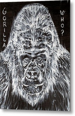 Metal Print featuring the painting Gorilla Who? by Fabrizio Cassetta