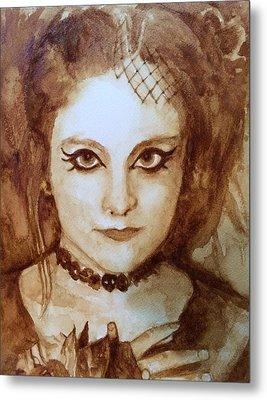 Goth Lady Metal Print by Chrissey Dittus