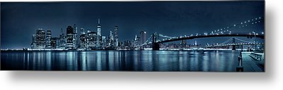 Metal Print featuring the photograph Gotham City Skyline by Sebastien Coursol