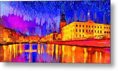 Gothenburg Sweden 2 - Da Metal Print by Leonardo Digenio