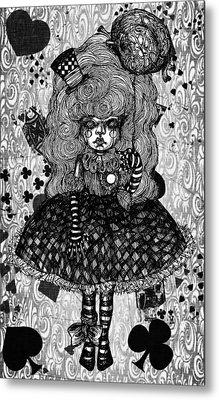 Gothic Cute Girl Metal Print by Akiko Okabe
