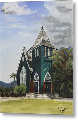 Gothic Green I Metal Print by Alan Mager
