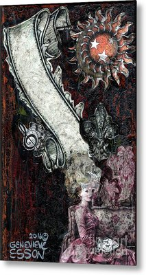 Metal Print featuring the mixed media Gothic Punk Goddess by Genevieve Esson