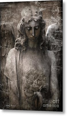 Gothic Surreal Mourning Angel - Inspirational Angel Art - Believe  Metal Print by Kathy Fornal