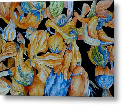 Gourds Galore Metal Print by Rosie Brown