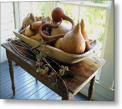 Gourds In Bowl Metal Print