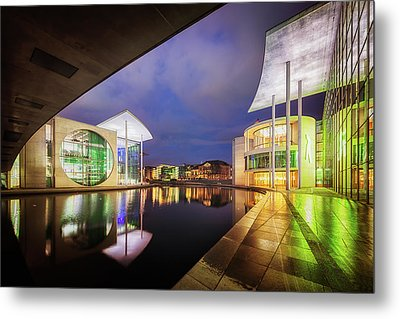 Government District, Berlin, Germany Metal Print by Nico Trinkhaus