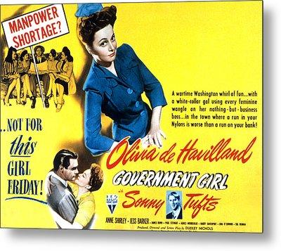 Government Girl, Olivia De Havilland Metal Print