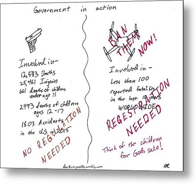 Government Inaction Metal Print by David S Reynolds