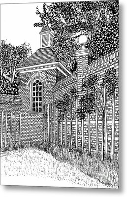 Governor's Palace, Trellises Metal Print by Dawn Boyer