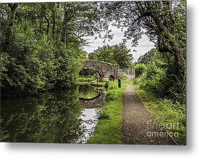 Goytre Wharf  Bridge Metal Print