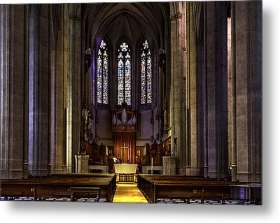 Grace Cathedral Metal Print by Bill Gallagher