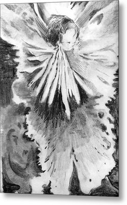 Grace In An Orchid Metal Print