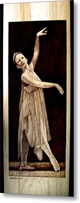 Grace Touching Light Metal Print by Jo Schwartz