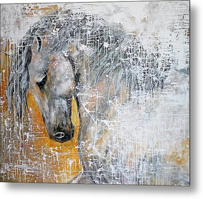 Abstract Horse Painting Graceful Beauty Metal Print