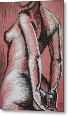 Graceful Pink - Nudes Gallery Metal Print by Carmen Tyrrell