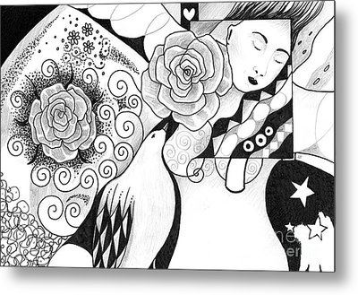 Gracefully Metal Print