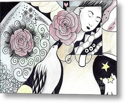 Gracefully - In Color Metal Print