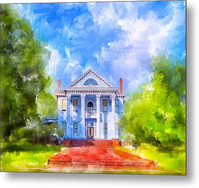 Gracious Living - Classic Southern Home Metal Print
