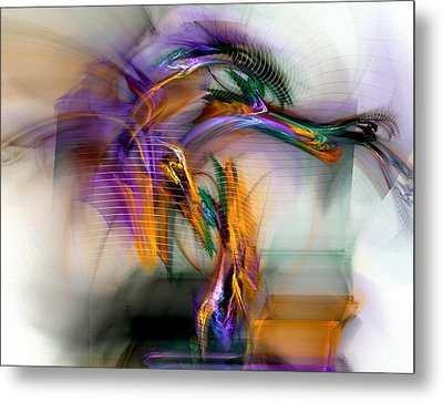 Graffiti - Fractal Art Metal Print by NirvanaBlues