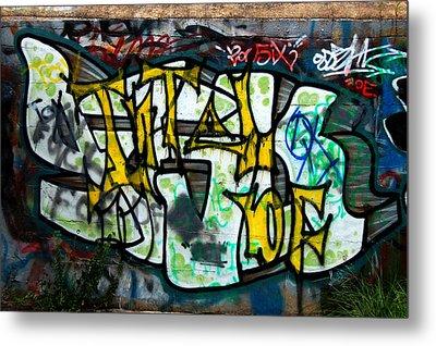 Graffiti Fort Armistead Baltimore Maryland Metal Print by Wayne Higgs