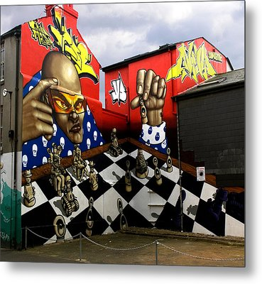 Graffiti. The Chess Player. Metal Print