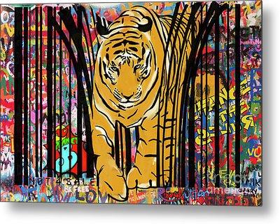 Graffiti Tiger Metal Print by Sassan Filsoof