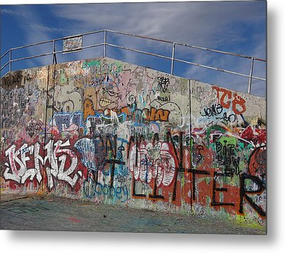Graffiti Wall Metal Print by Julia Wilcox
