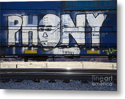 Grafitti Art Riding The Rails 4 Metal Print