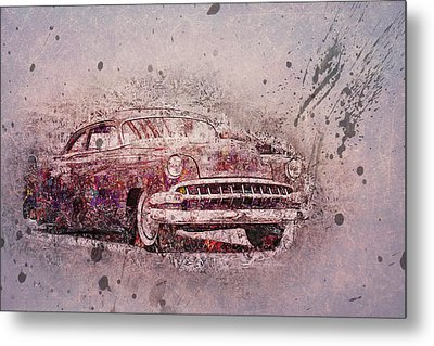 Metal Print featuring the photograph Graffiti Merc by Joel Witmeyer
