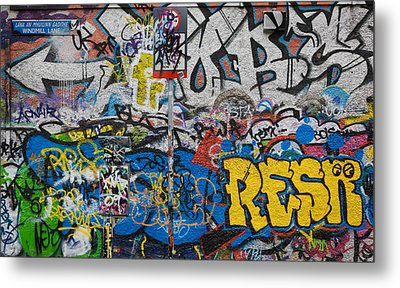 Grafitti On The U2 Wall, Windmill Lane Metal Print by Panoramic Images