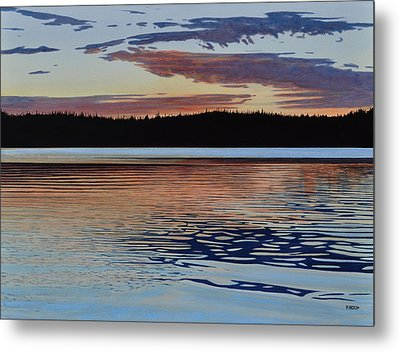 Metal Print featuring the painting Graham Lake by Kenneth M Kirsch