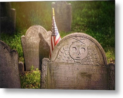 Granary Burying Ground Boston  Metal Print