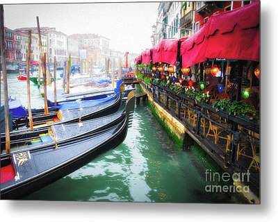 Metal Print featuring the photograph Grand Canal In Venice # 2 by Mel Steinhauer