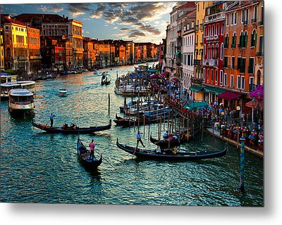 Grand Canal Sunset Metal Print by Harry Spitz